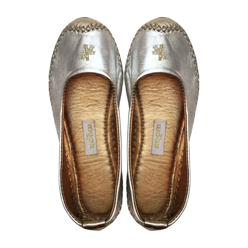 Mila Ballet Shoes, Silver