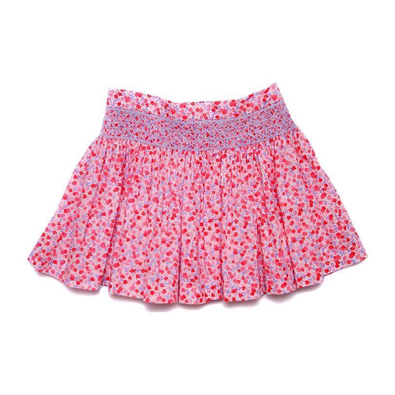 Mulan Skirt, Pink Floral