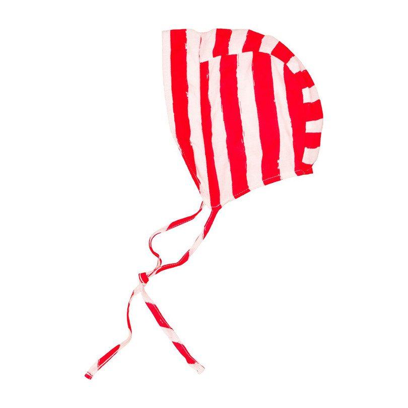 Baby Bonnet, Red Stripes