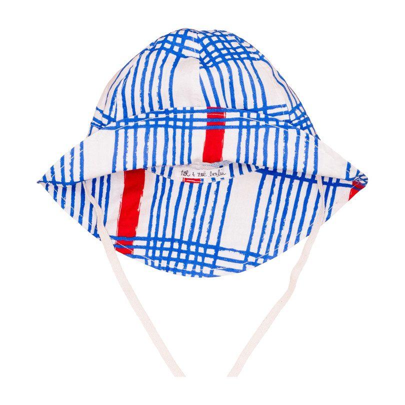 Summer Hat, Blue Gingham