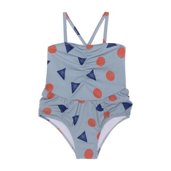 One Piece Swimsuit, Geometric Pollen Print