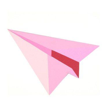 """Paper Planes (Pink) by Rankin Willard, 12"""" x 10"""""""