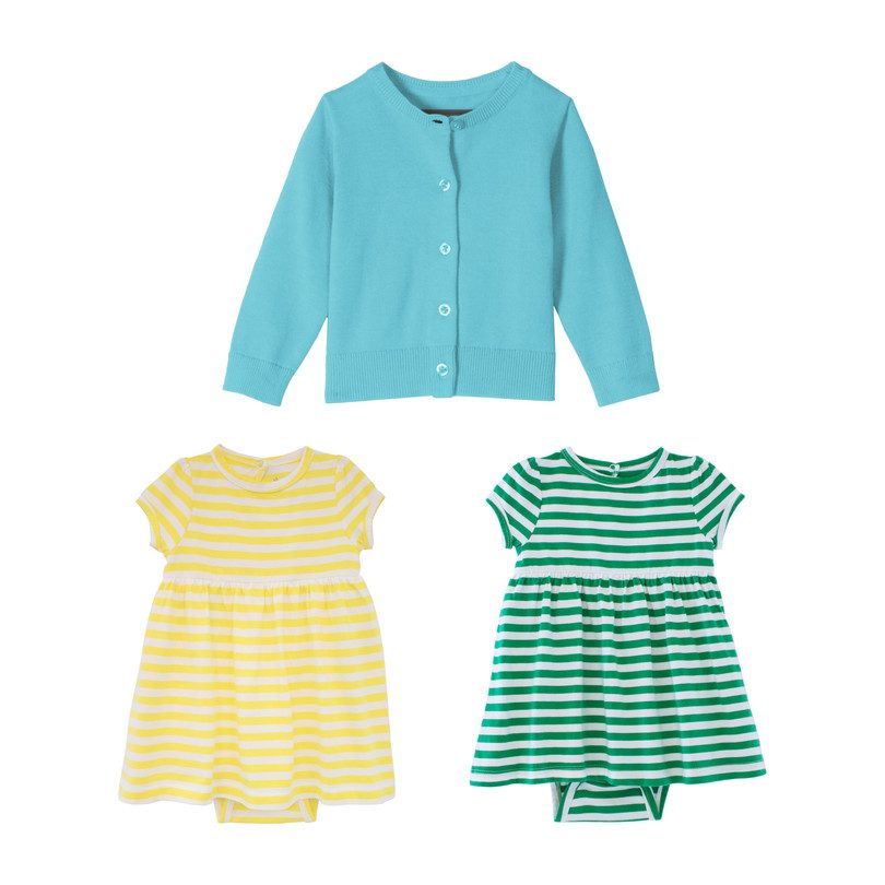Baby Dress & Cardi Set, Brights