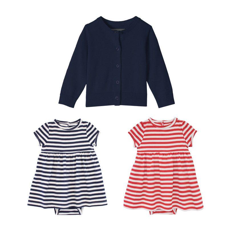 Baby Dress & Cardi Set, Nautical