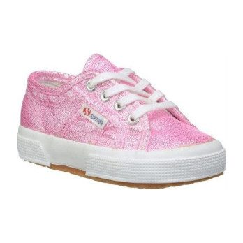 Lame Lace Up, Pink