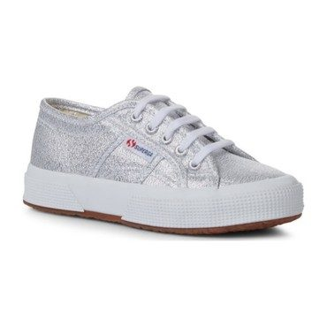 Lame Lace Up, Silver