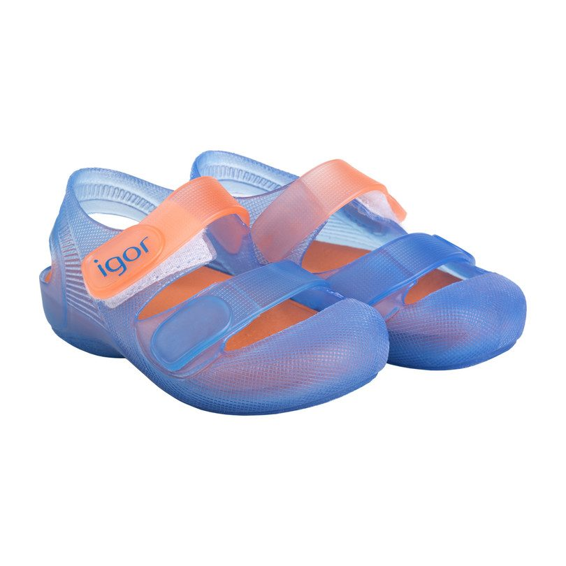 Bondi Jelly Slip-On, Blue/Orange
