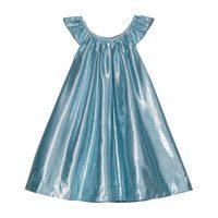 Isabella Party Dress, Aqua Lame