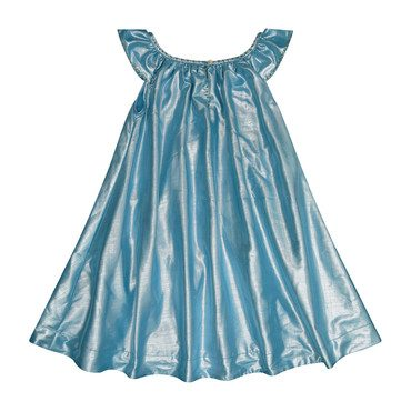 Isabella Party Dress, Aqua Lame