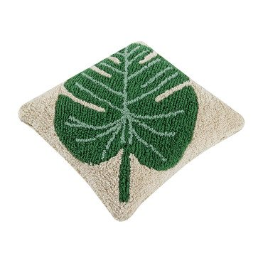 Monstera Washable Pillow, Green