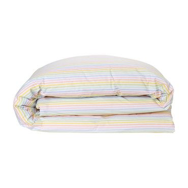 Reversible Cotton Duvet Cover, Bubbles/Fine Lines