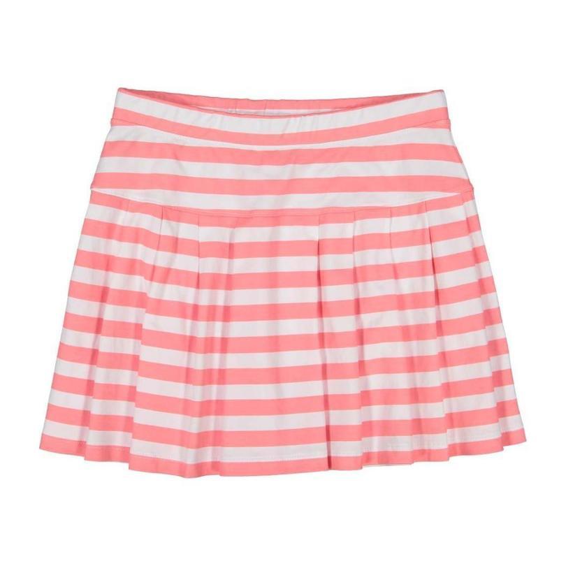 Joy Skirt, Sunkissed Coral Stripe