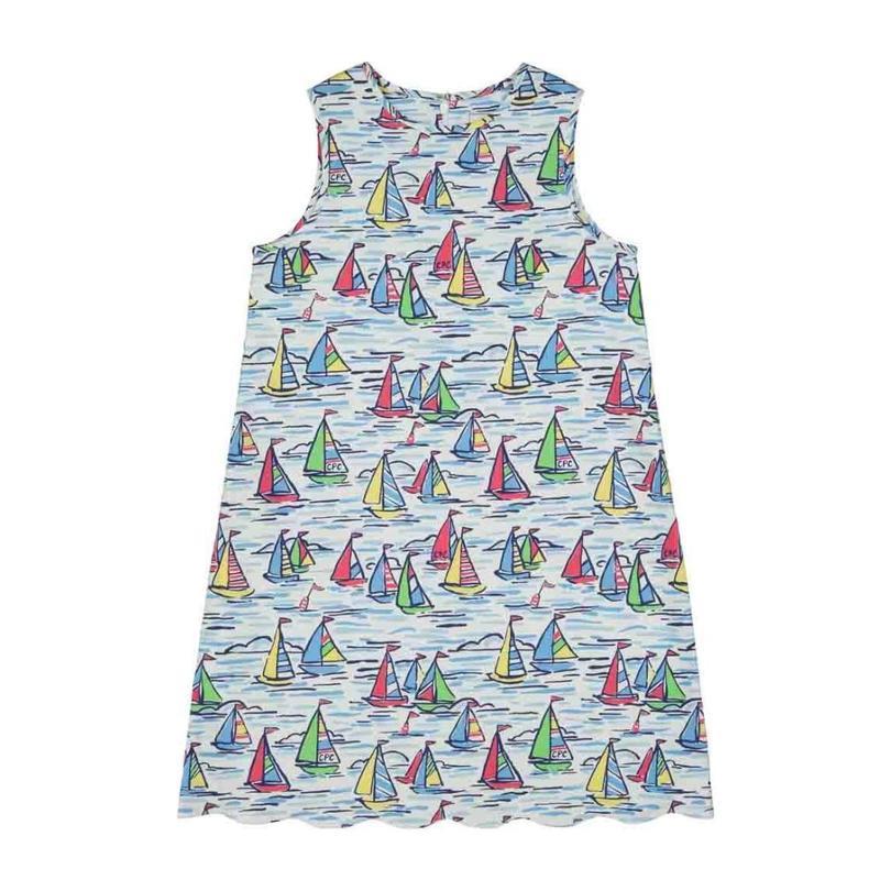 Piper Scallop Dress, Rainbow Fleet