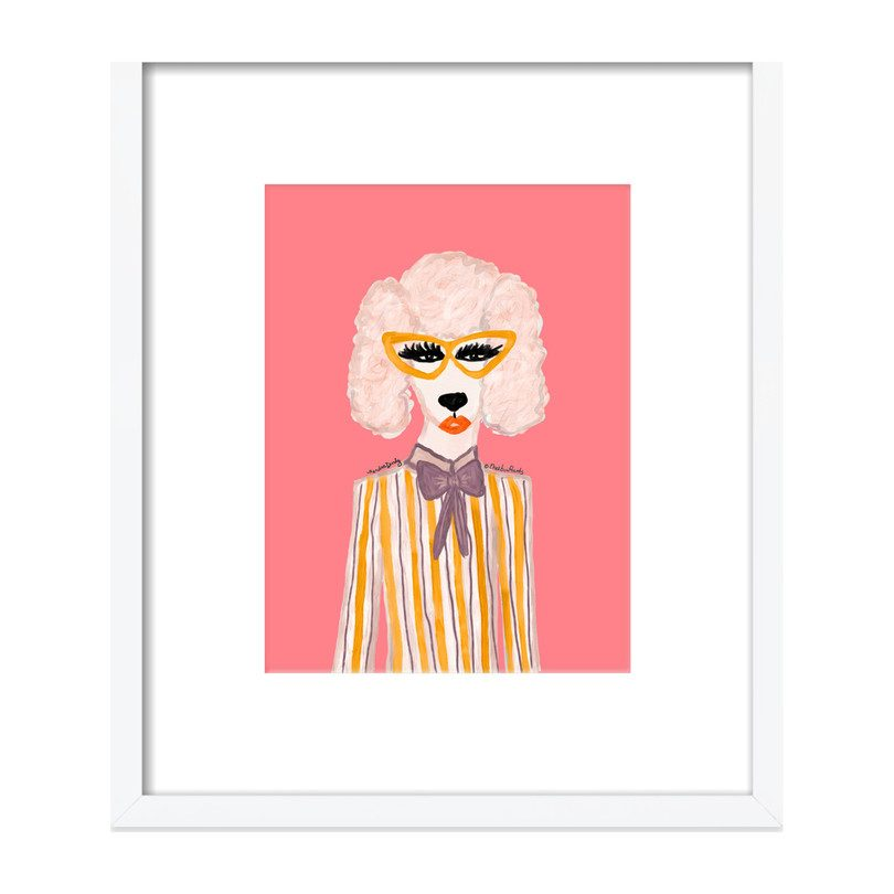 "Stylish Poodle by Kendra Dandy, 16"" x 19"""