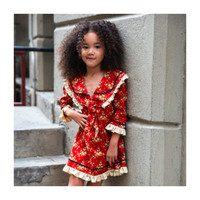 Sailor Dress, Red Floral