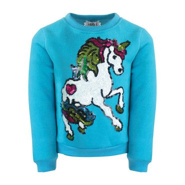 Sky Unicorn Sequin Sweatshirt, Blue