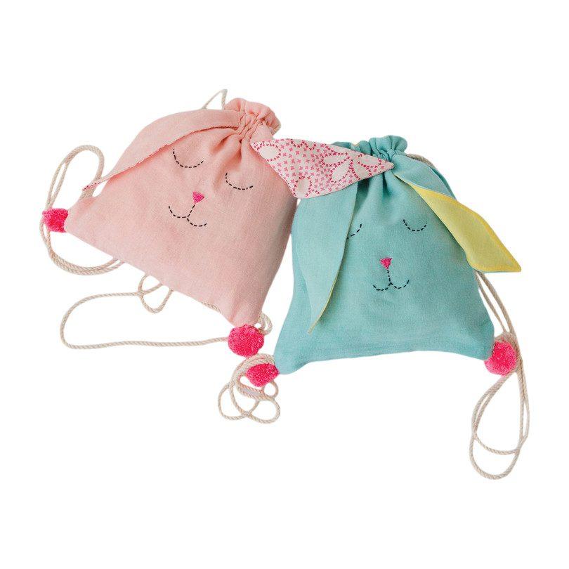 Sleeping Bunny Backpack, Tropical Peach