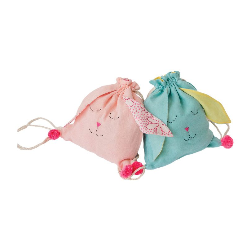 Sleeping Bunny Backpack, Blue
