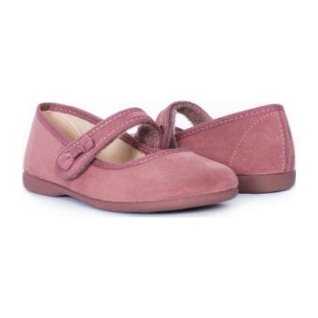 Suede Bow Mary Janes, Pink