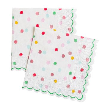 It's a Party' Small Dotty Napkins, Multi