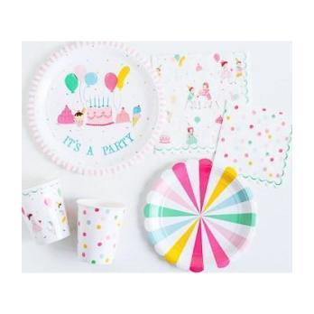 It's a Party' Small Pinwheel Plates Multi