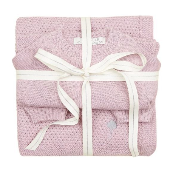 The Neel Travel Set in Alpaca, Cumulus Pink