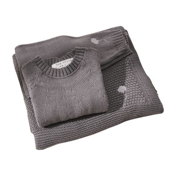 The Neel Travel Set in Cotton, Cumulus Grey
