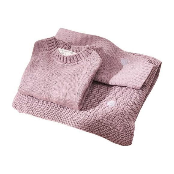The Neel Travel Set in Cotton, Cumulus Pink