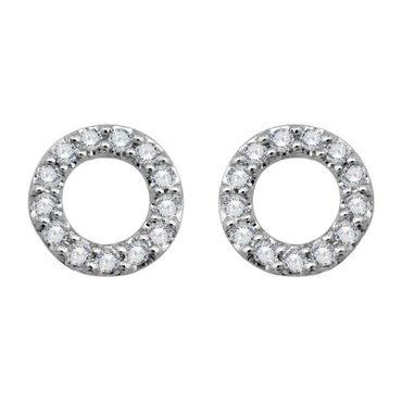 Tiny Circle Earrings