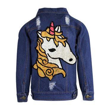 Unicorn Jean Jacket, Blue