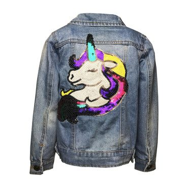 Unicorn Rainbow Denim Jacket