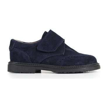 Velcro Loafers, Navy Suede
