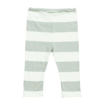 Wide Stripe Baby Legging Dove Gray