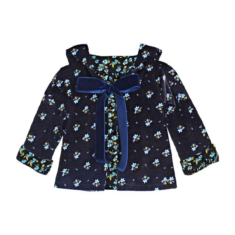 Marianne Jacket, Blue Floral