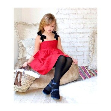 Chelsea Party Dress, Red