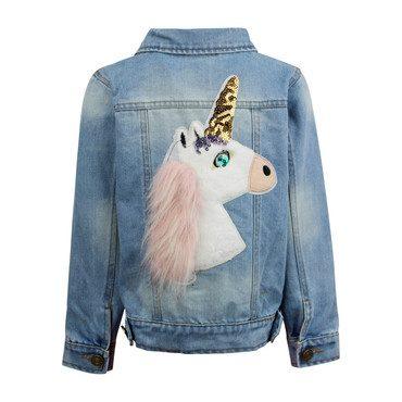 Fuzzy Unicorn Denim Jacket