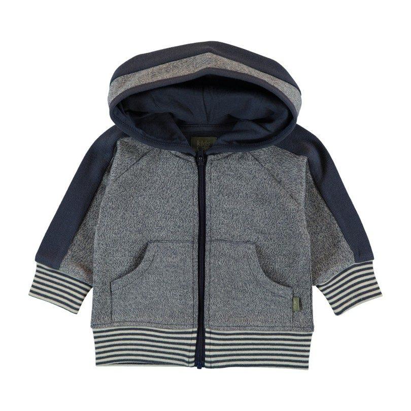 Baby Hoodie, Dark Blue and Grey
