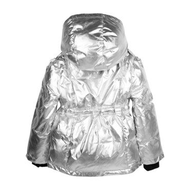 Ivy Puffer Coat, Silver