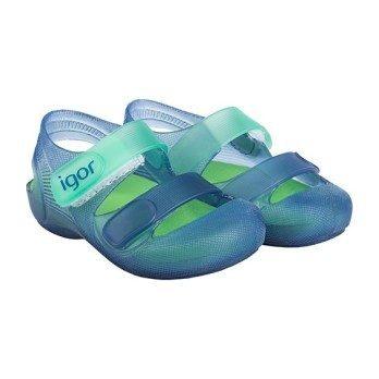 Bondi Jelly Slip On, Navy/Green