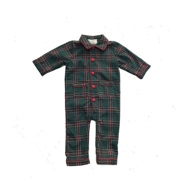 Theodore Pajama Set, Green