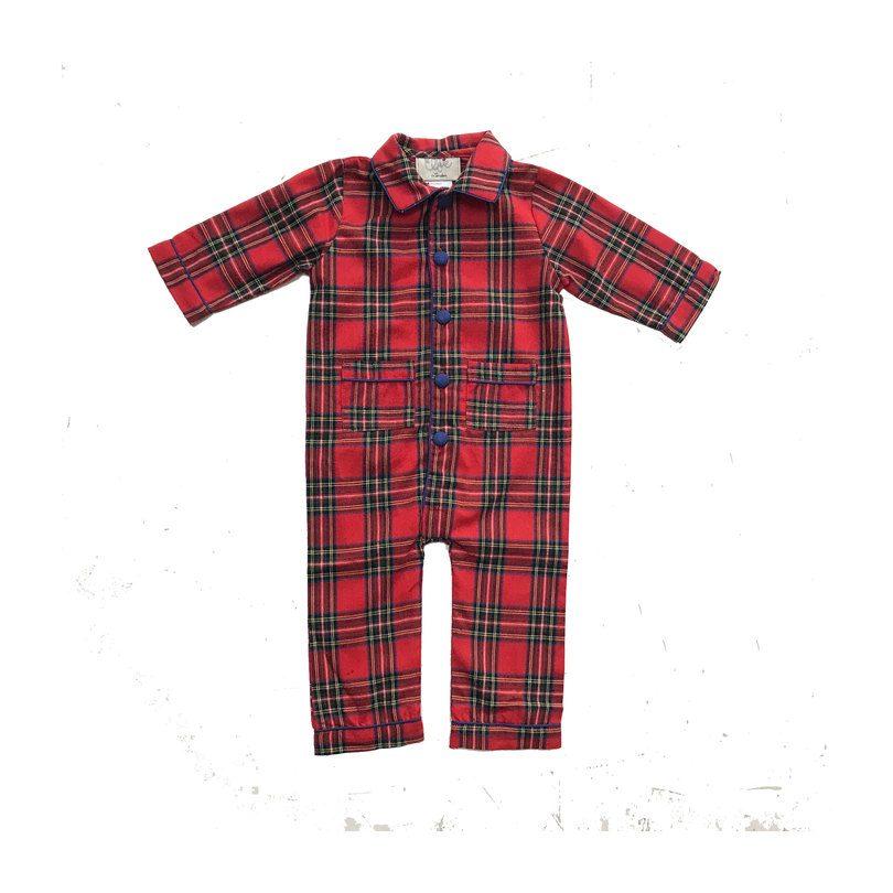 Theodore Pajama Set, Red