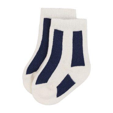 Baby Striped Skunk Socks, Cream