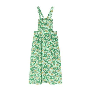 Cow Dress, Green Daisies