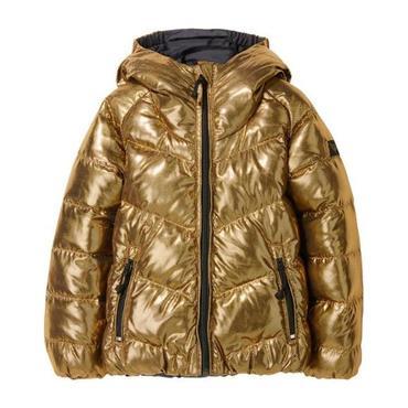 Snowdance Reversible Down Jacket, Gold/Black