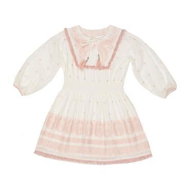 Boho Embroidered Cotton Dress