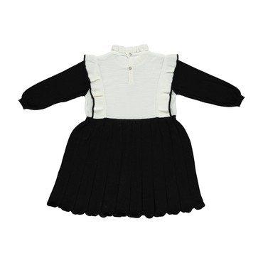 Brigitta Dress, Black and Ecru