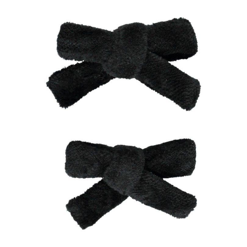 Lorena Pigtail Set, Black