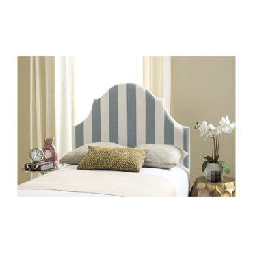 Hallmar Striped Headboard, Grey/White