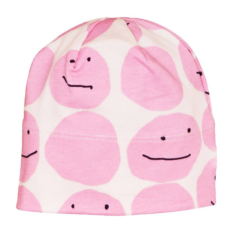 Baby Beanie, Pink Smiley