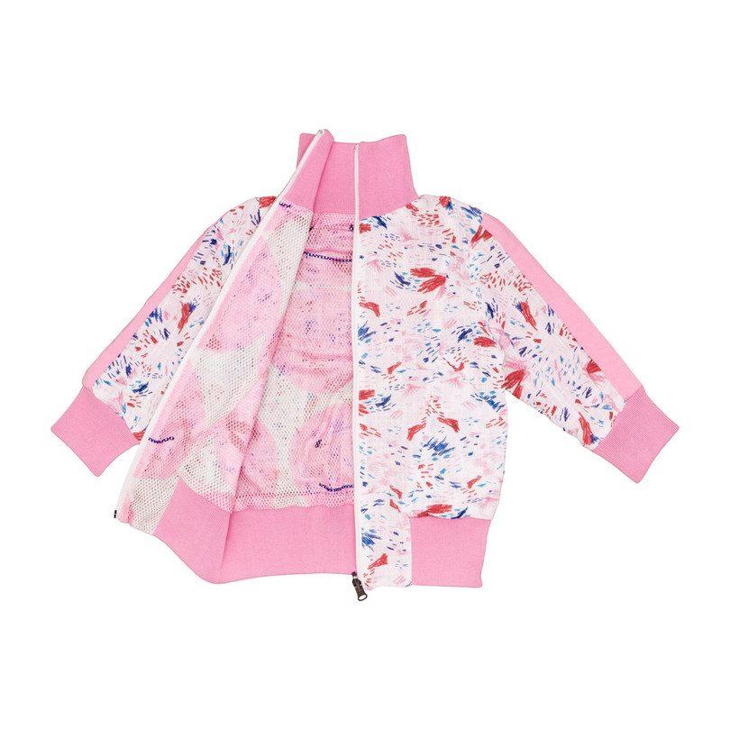 Track Jacket, Pink Smiley